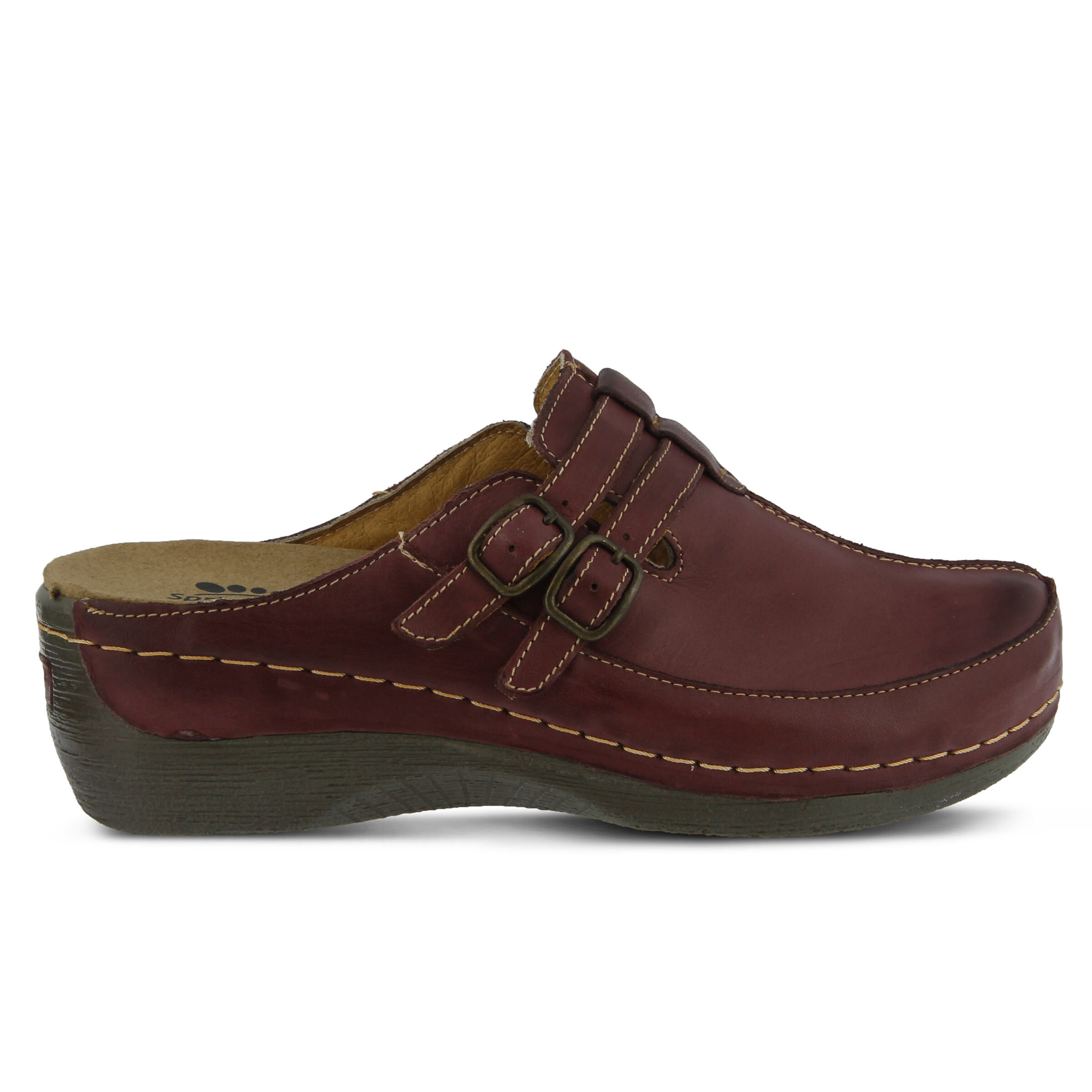 The Lowest Price Women's SPRING STEP Happy Clogs Bordeaux