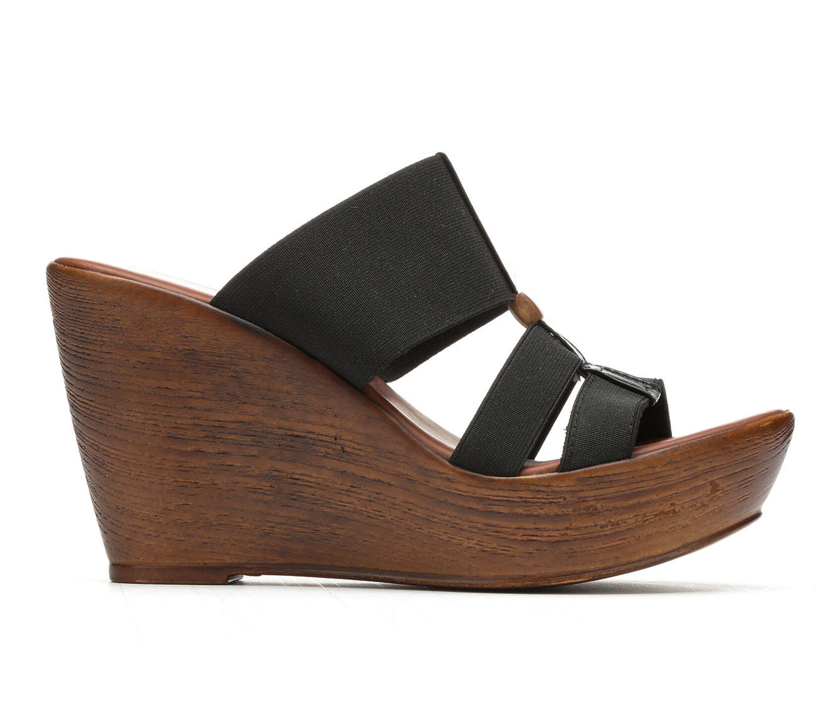 Black Wedge Shoes Wide Fit