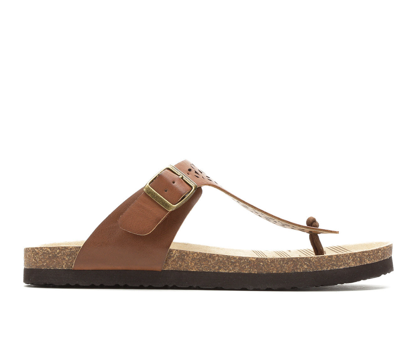 find authentic Women's Makalu Brie Footbed Sandals Whiskey