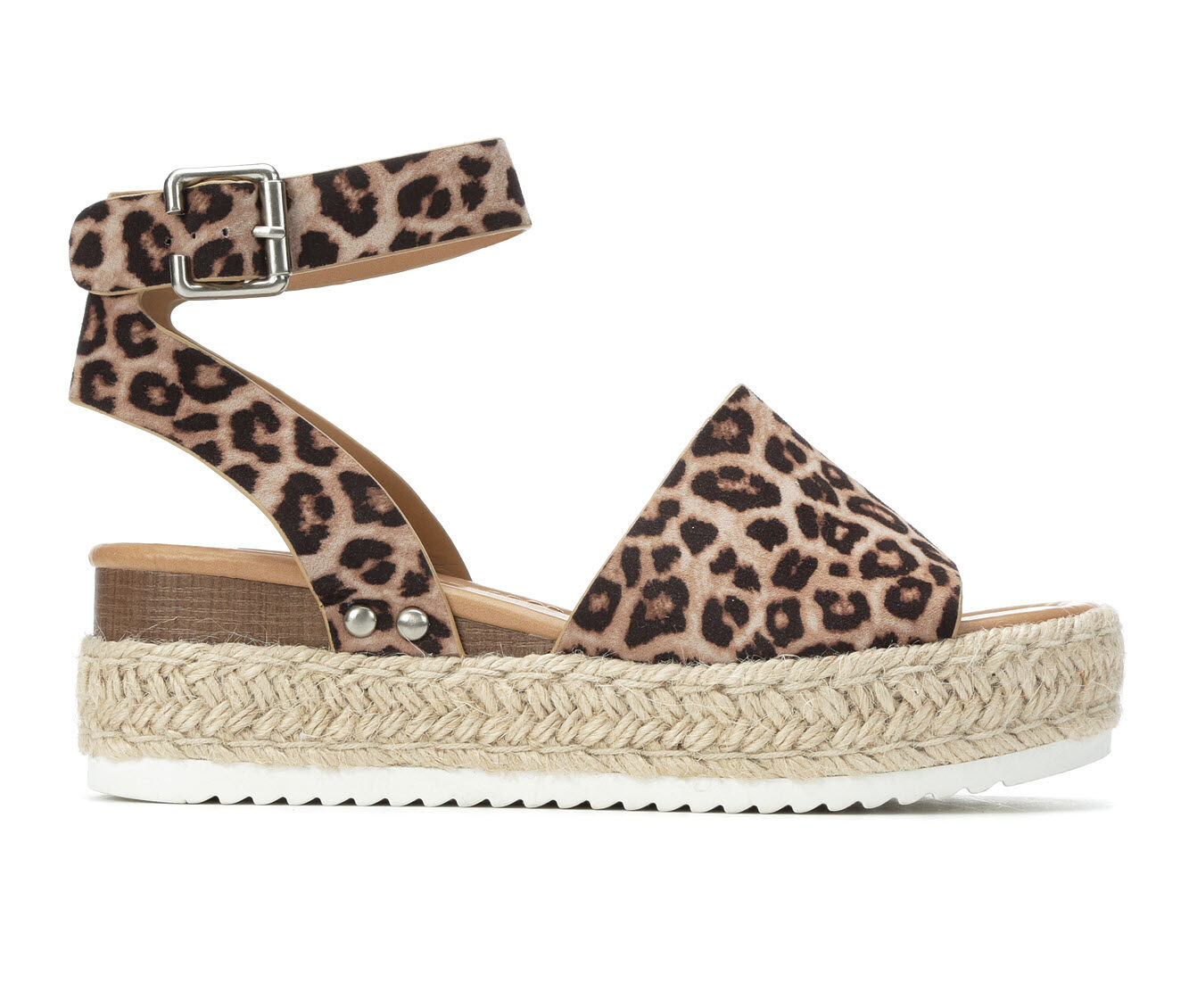 purchase cheap Women's Soda Topic Flatform Sandals Oatmeal Cheetah