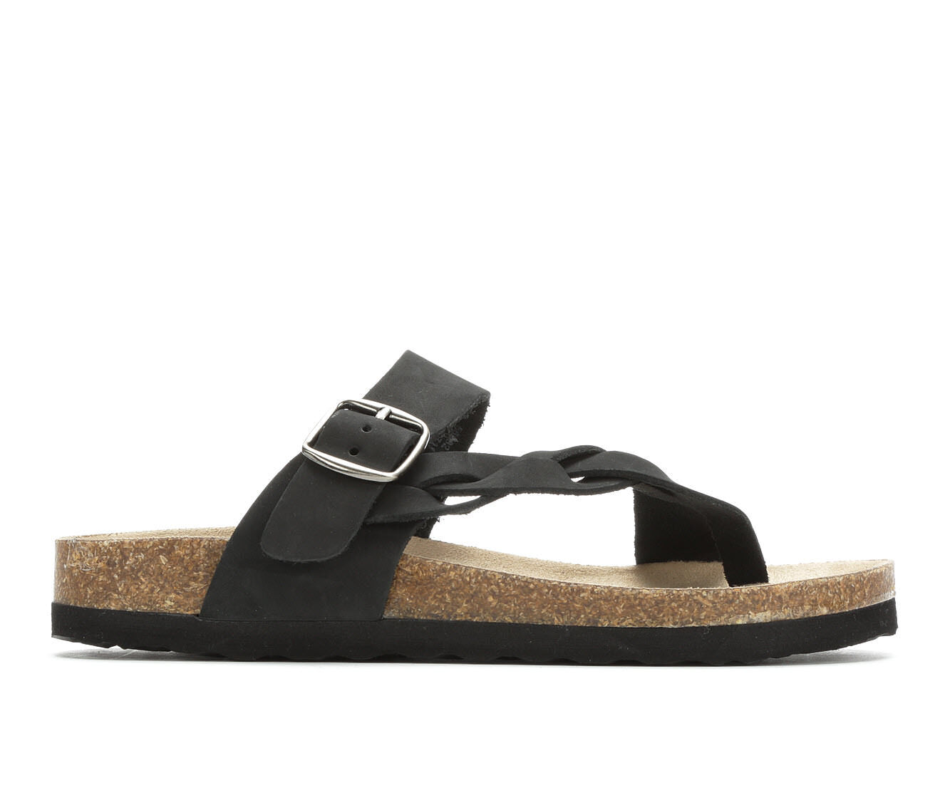 Buying New Women's White Mountain Crawford Footbed Sandals Black