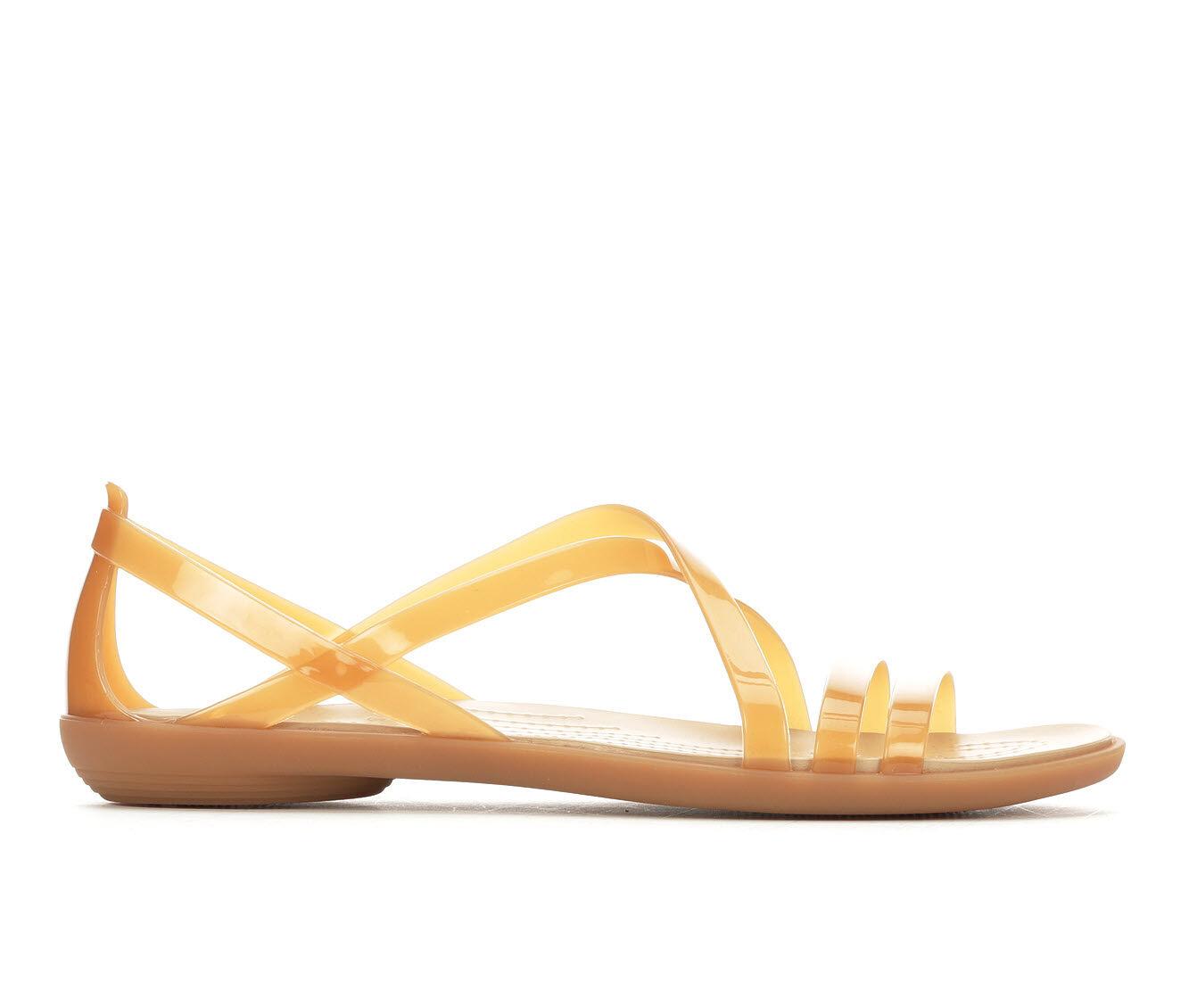 Women's Crocs Isabella Strappy Sandals Dark Gold