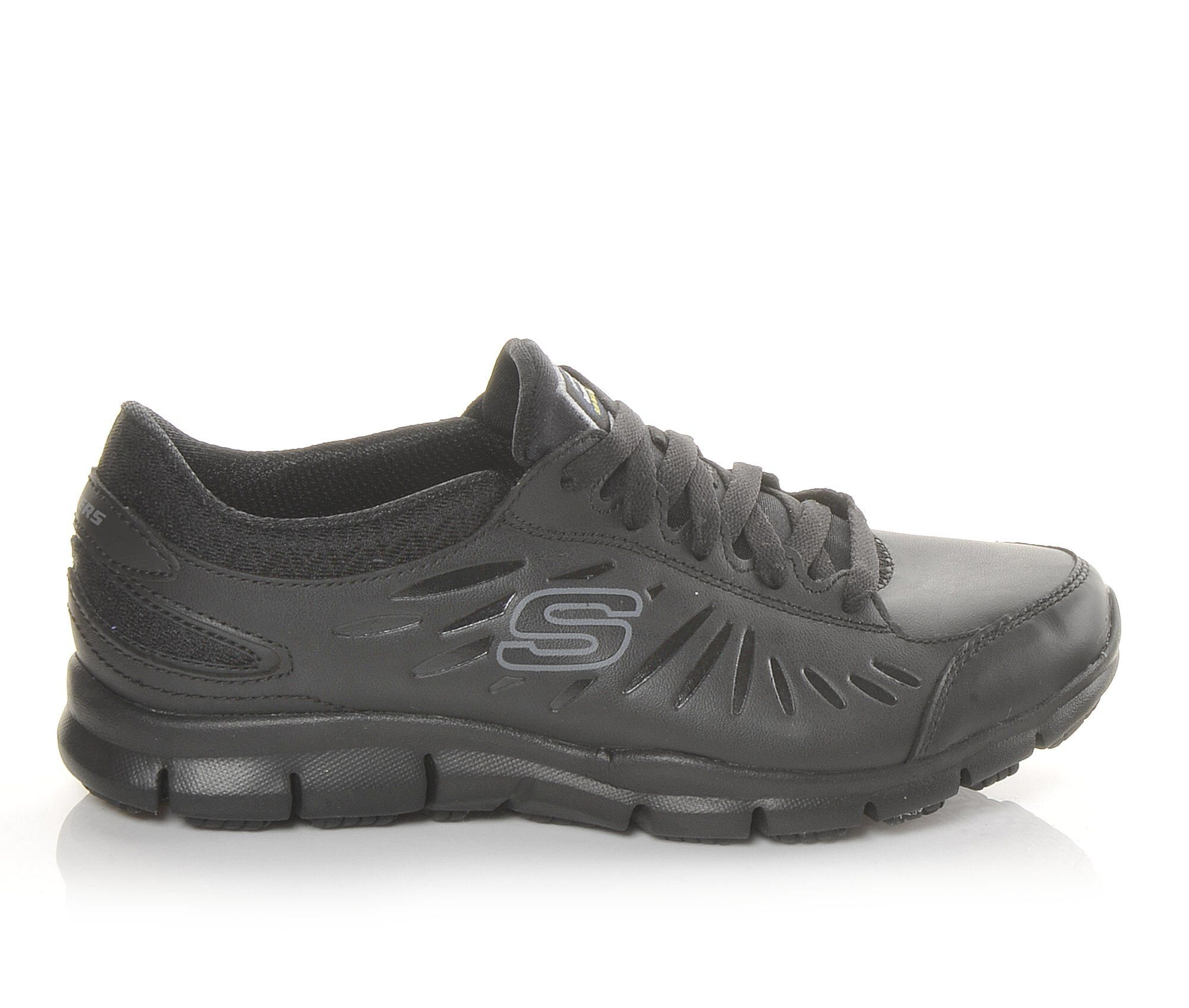 Women's Skechers Work Eldred 76551 Slip Resistant Shoes Black