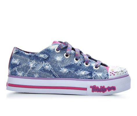 Girls' Skechers Denim Step Up 10.5-4 Light-Up Sneakers