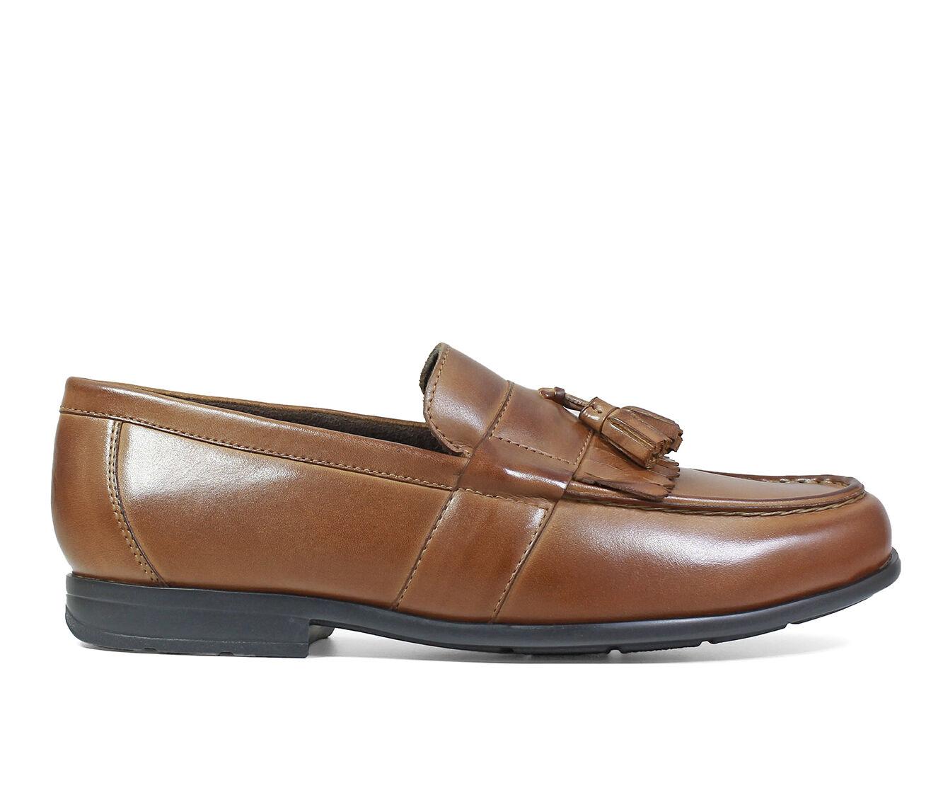 Men's Nunn Bush Denzel Moc Toe Loafers Cognac