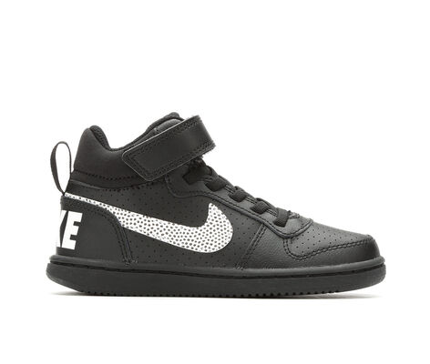 Boys' Nike Court Borough Mid Print SE 10.5-7 Sneakers