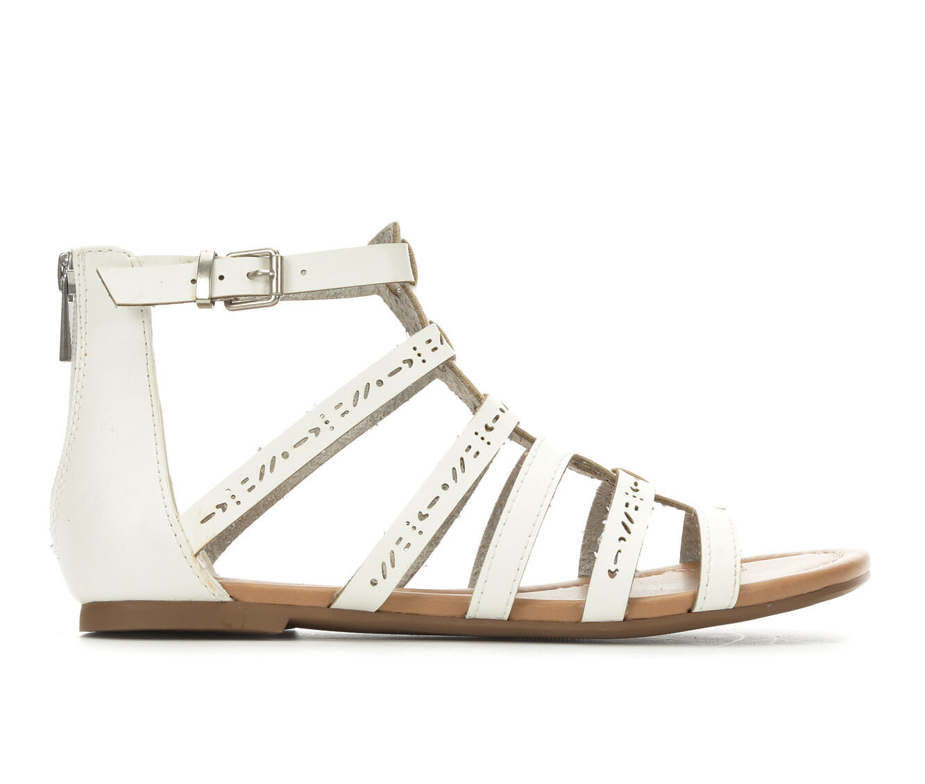 shop authentic new series Women's Unr8ed Scarlet Gladiator Sandals White