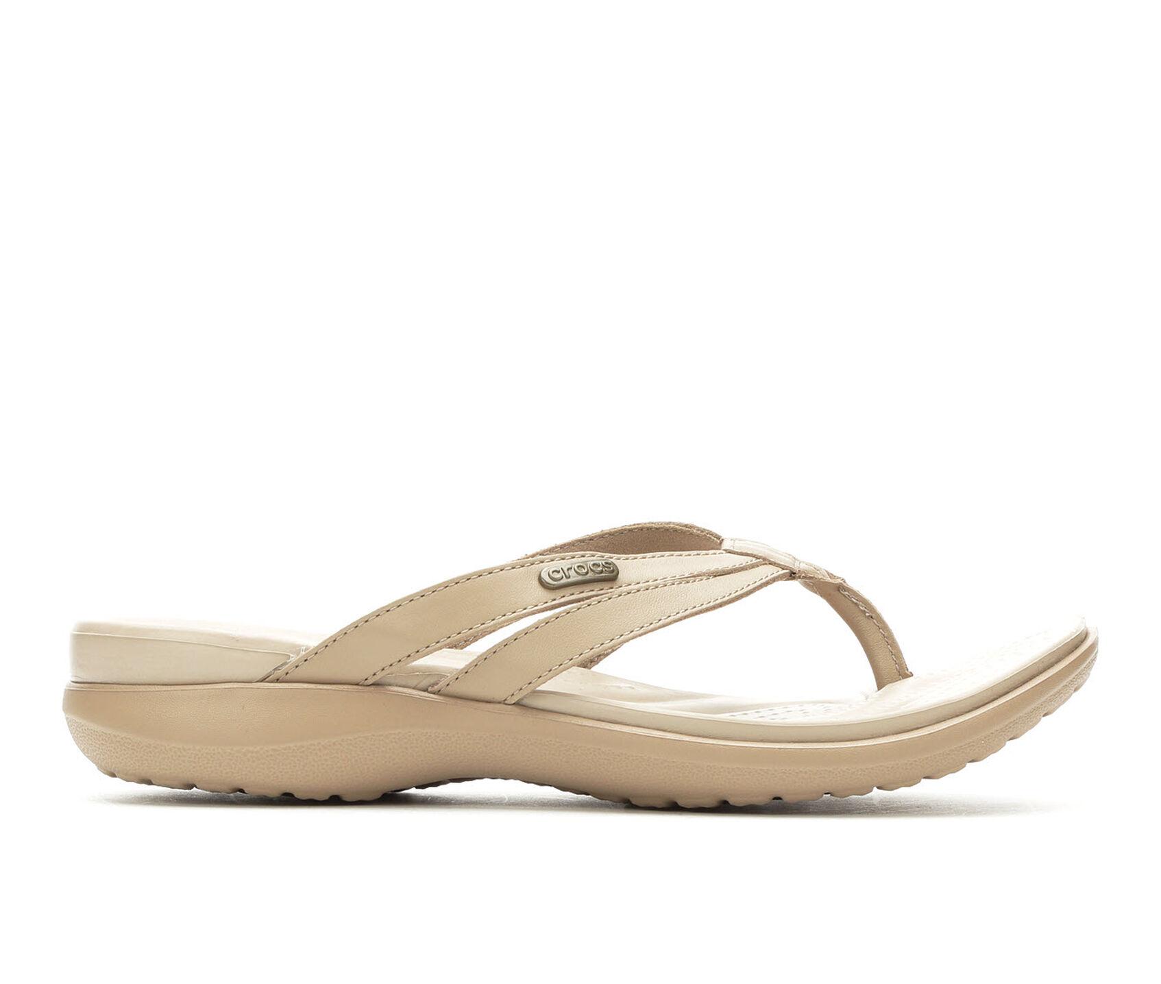 135370fc022 Women's Crocs Capri Strappy Flip-Flop | Shoe Carnival