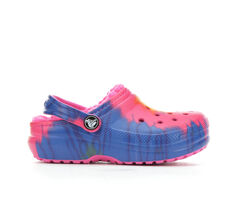 Girls' Crocs Little Kid & Big Kid Classic Tie Dye Lined Clog
