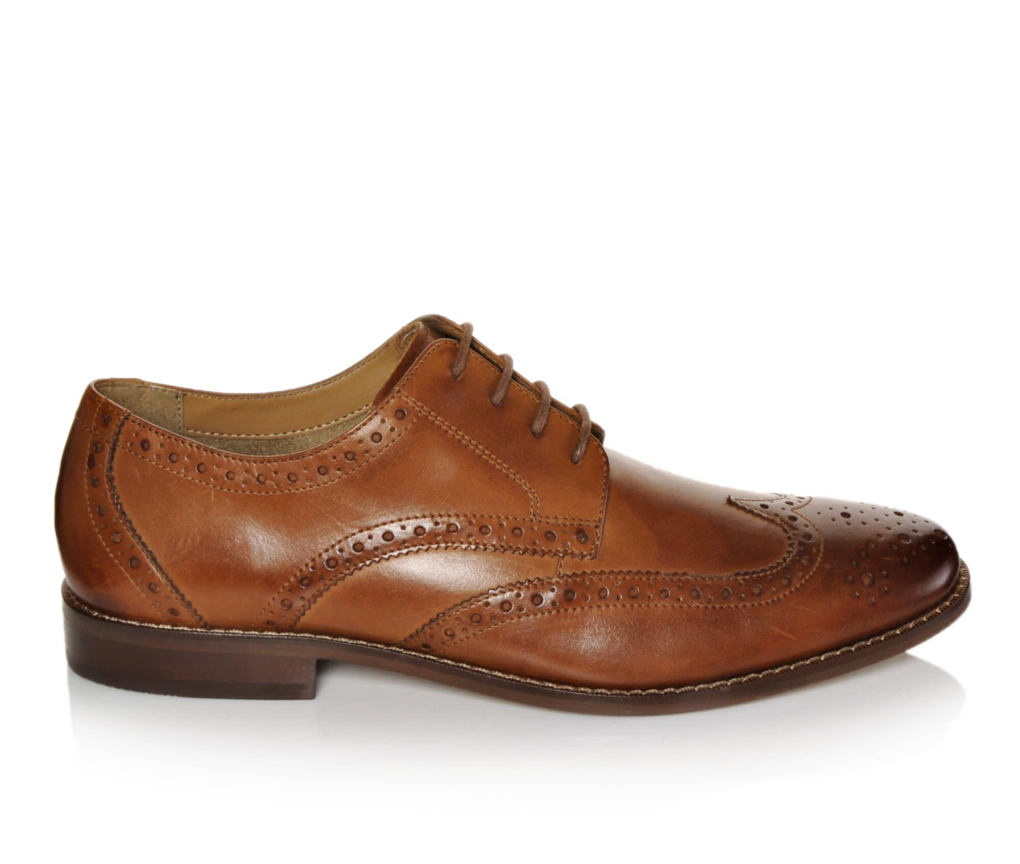 Mens Florsheim Montinaro Wingtip Oxford Oxfords Shoes Brown Smooth UDB95350