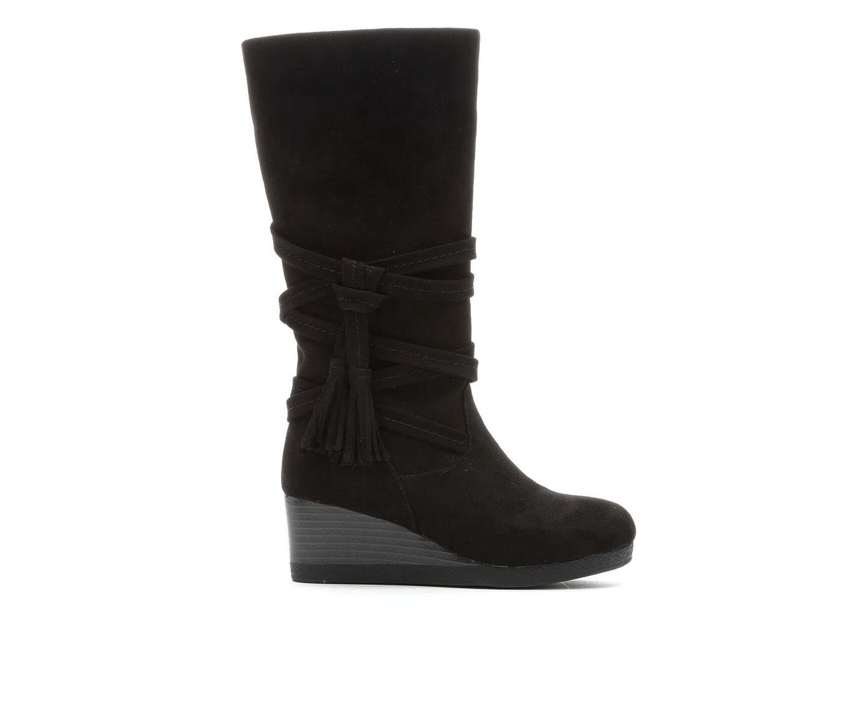 Black Wedge Booties Shoe Carnival