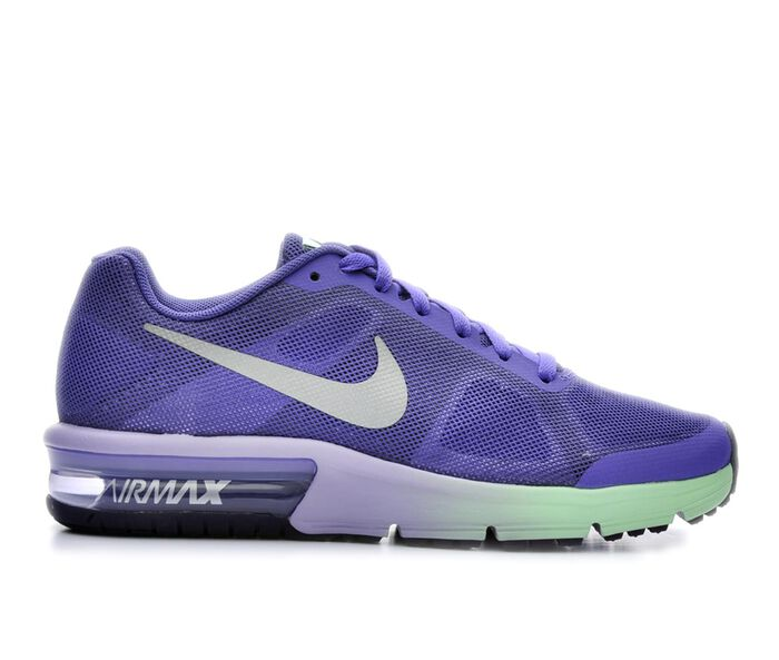 Girls' Nike Air Max Sequent 3.5-7 Running Shoes