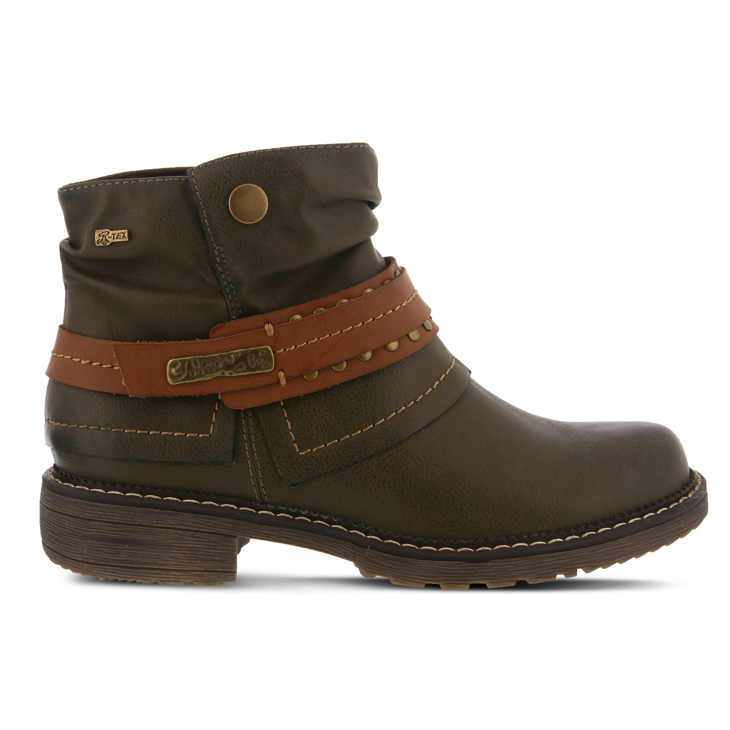 Women's SPRING STEP Murna Booties Olive Green