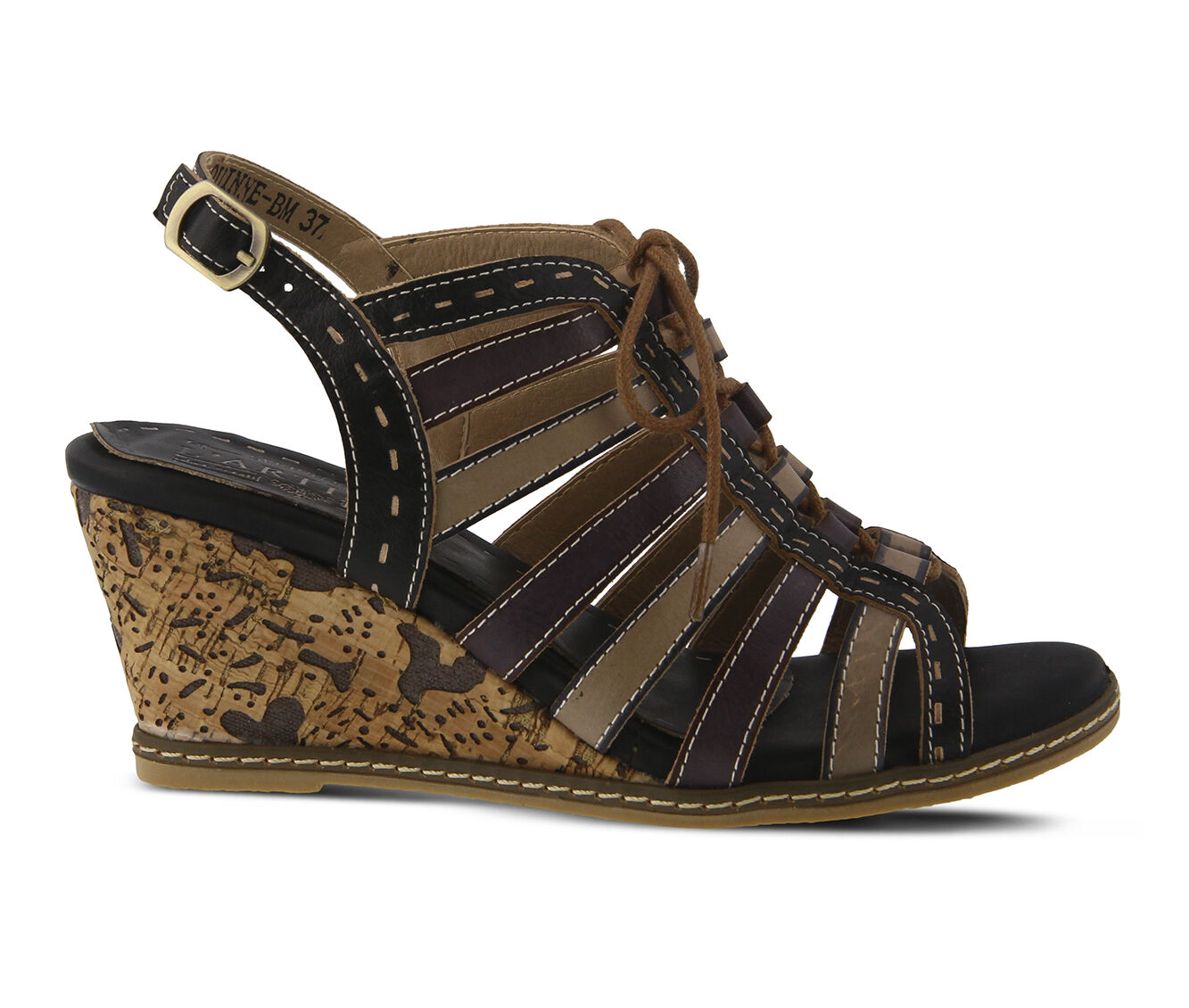 Women's L'ARTISTE Quinne Wedges Black Multi