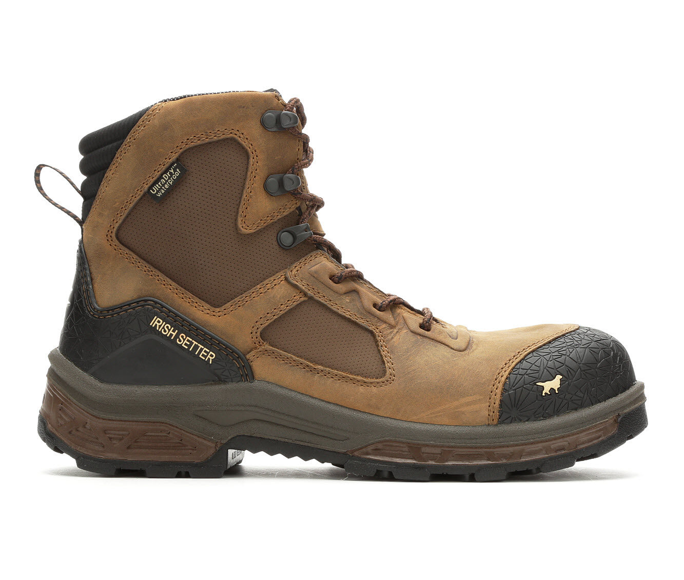 Men's Red Wing-Irish Setter Kasota Side Zip Work Boots Brown