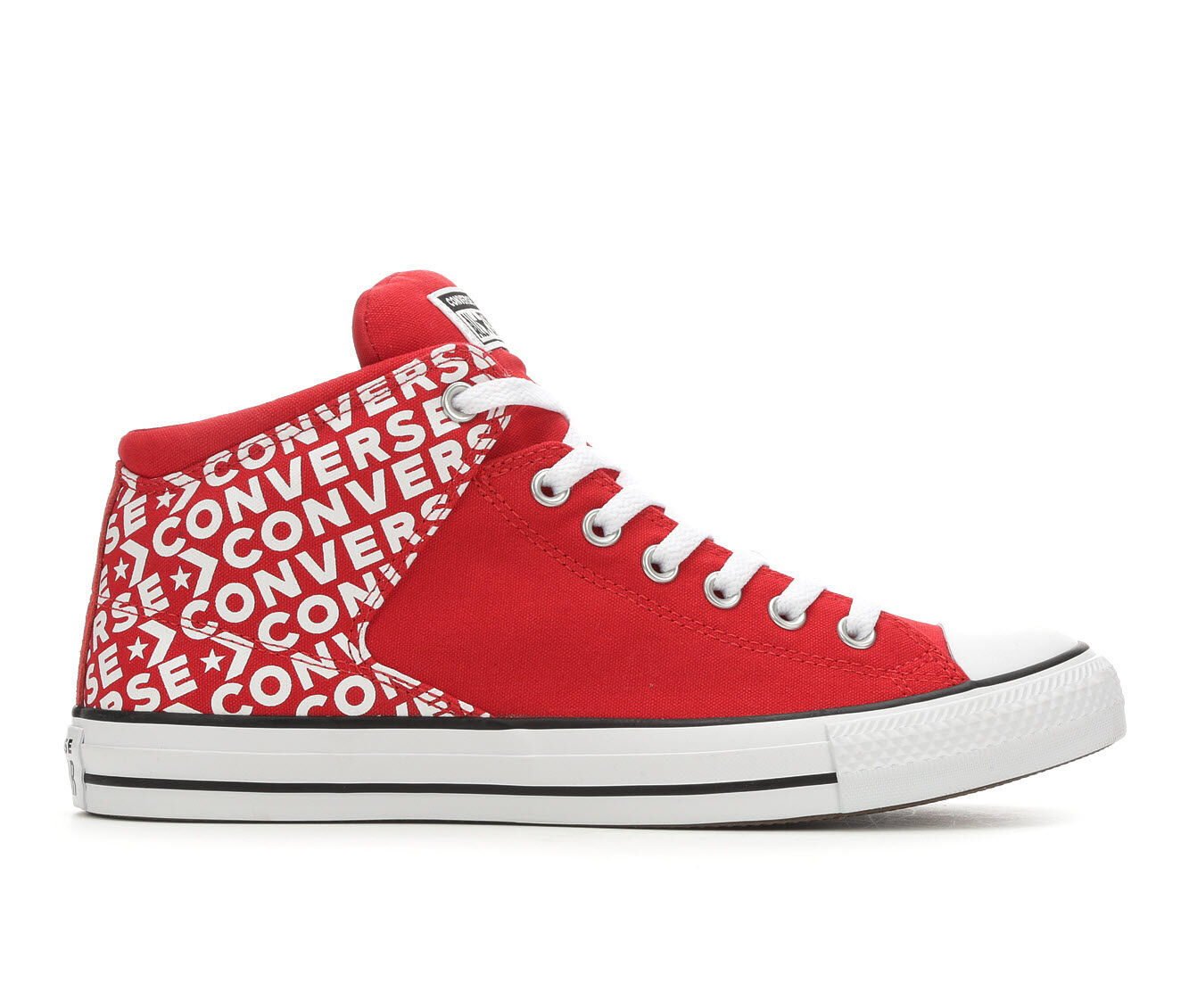 Men's Converse Chuck Taylor All Star Hi St Wordmark 2.0 High-Top Sneakers Red/Wht/Blk