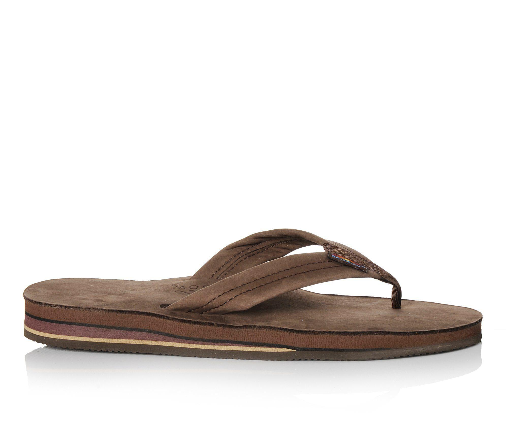 Men's Rainbow Sandals Premier Leather Flip-Flops Espresso