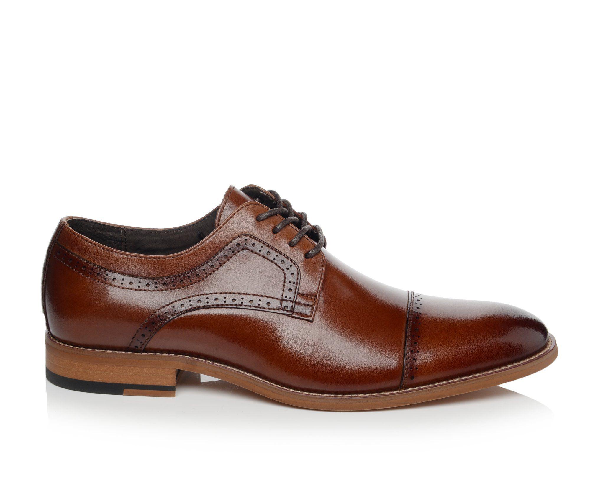 Men's Stacy Adams Dickinson Dress Shoes Cognac