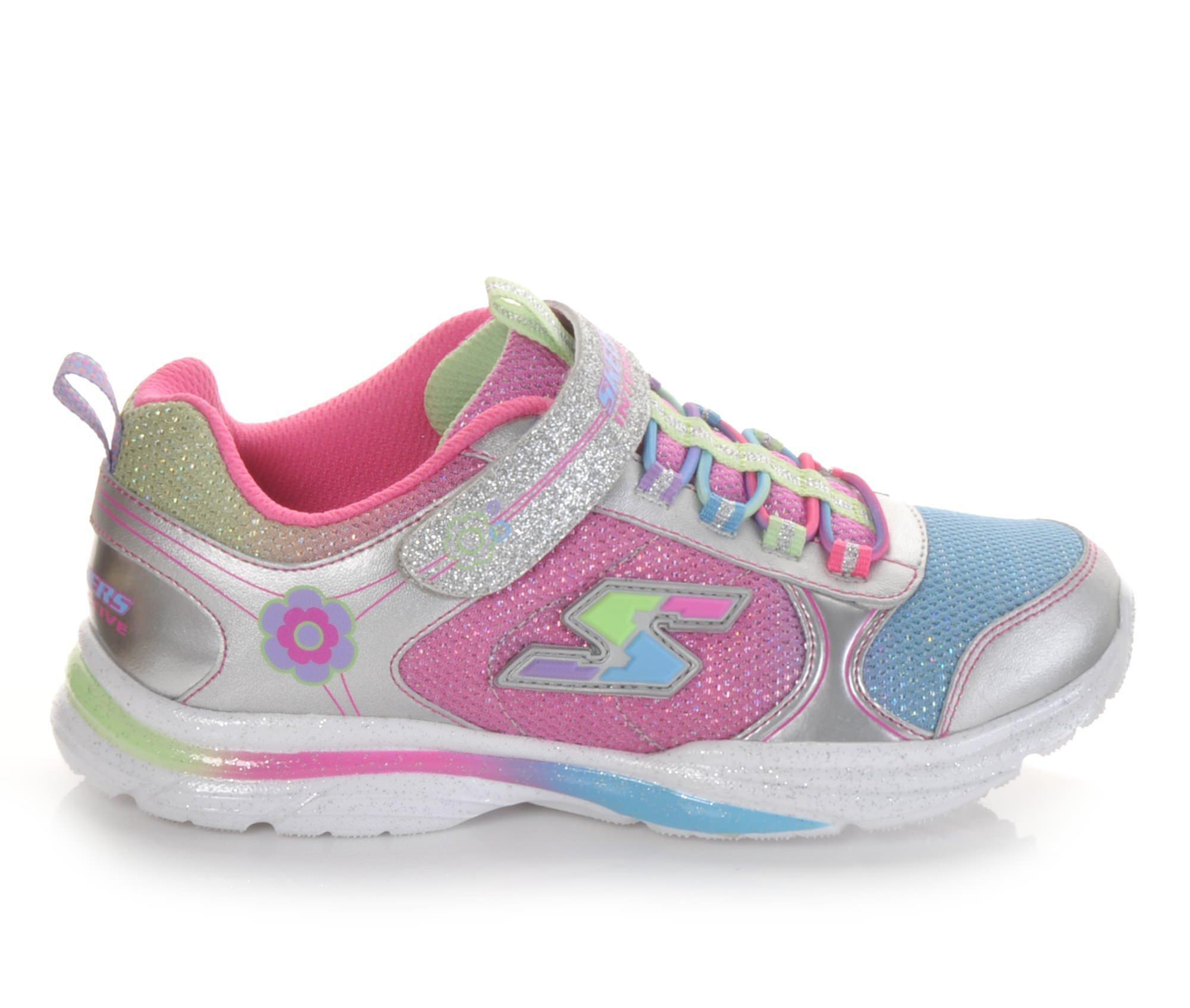 Skechers Shoes Skechers Game Kicks 10 5 4 Girls Sports Shoes Silver/Multi