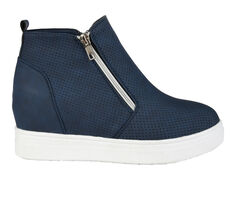 Women's Journee Collection Phoebe Wedge Sneakers