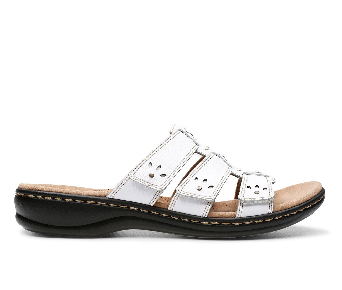 Women's Clarks Leisa Spring Sandals White