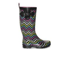 Women's Capelli New York Multi Dot Chevron Rain Boots