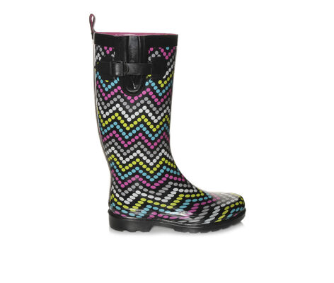 Women's Capelli New York Multi Dot Chevron Rain Boots