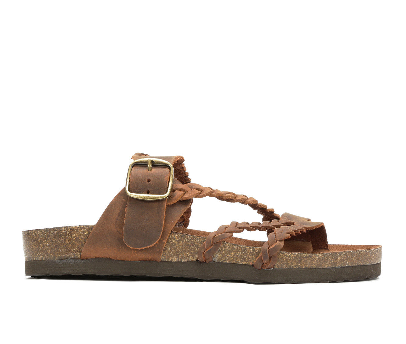Women's White Mountain Hayleigh Strappy Footbed Sandals Brown