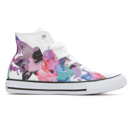 Girls' Converse CTAS Geo Floral Hi 10.5-6 High Top Sneakers