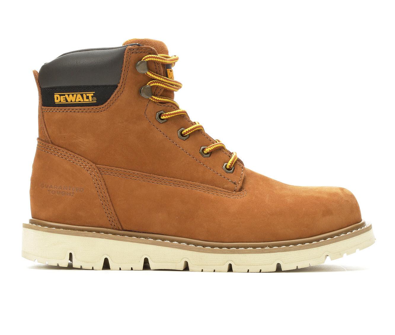 Men's DeWALT Flex 6 Inch Steel Toe Work Boots Light Brown