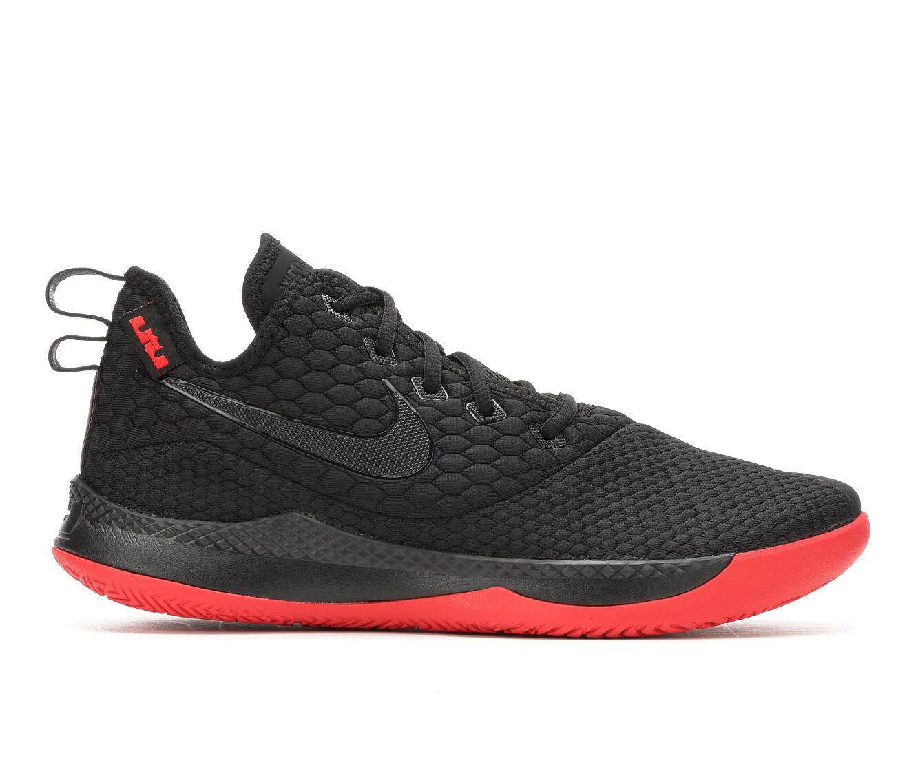 Men's Nike Lebron Witness III Basketball Shoes Black/Red