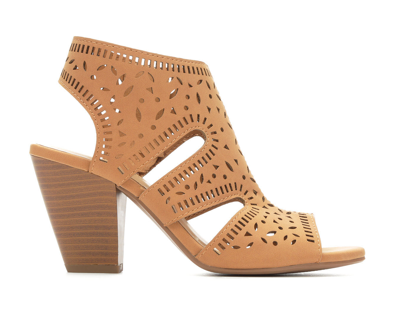 fast shipping Women's City Classified Spoil Heeled Sandals Tan Nub