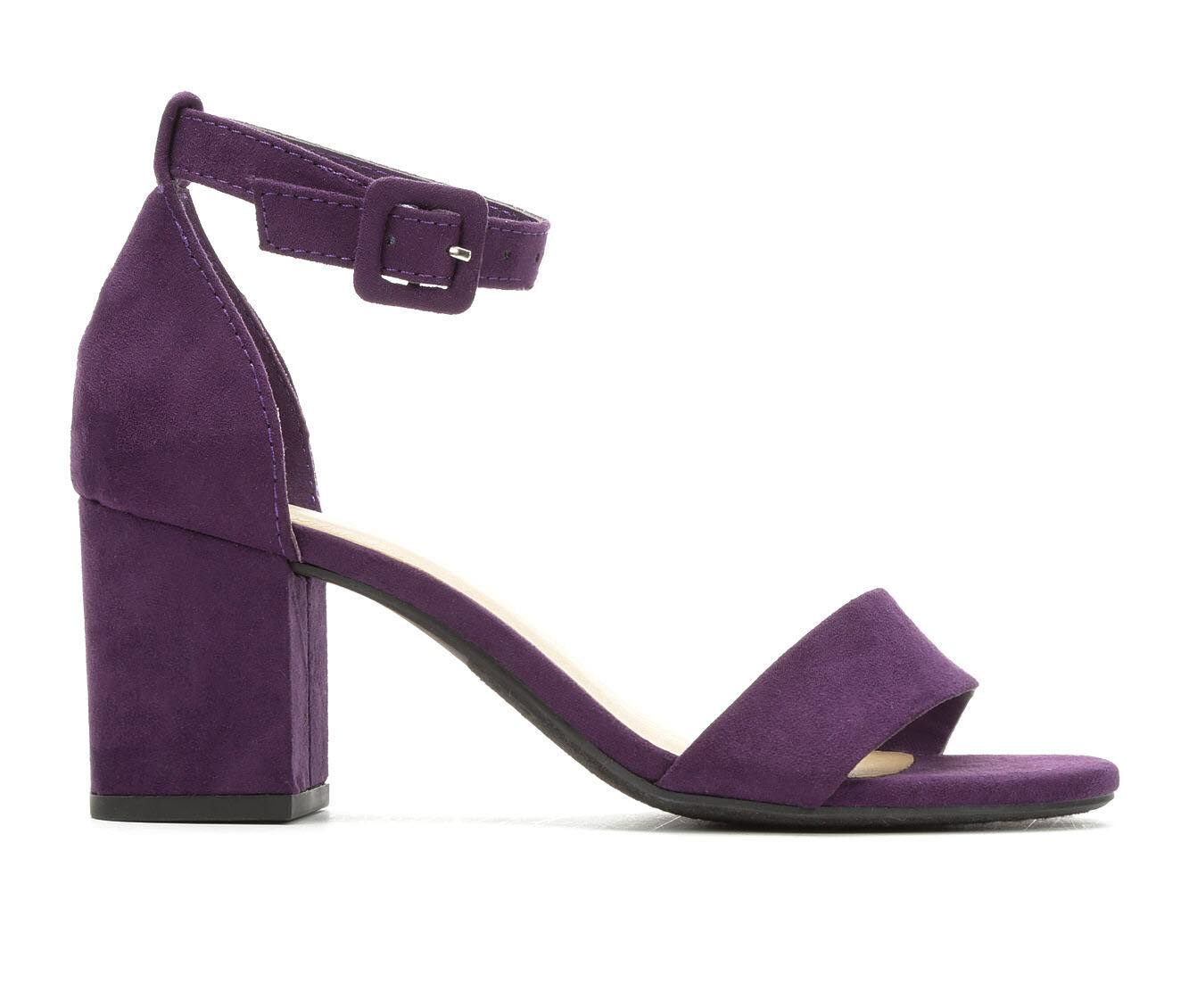 largest discount Women's Y-Not Cake Heeled Sandals Grape Micro