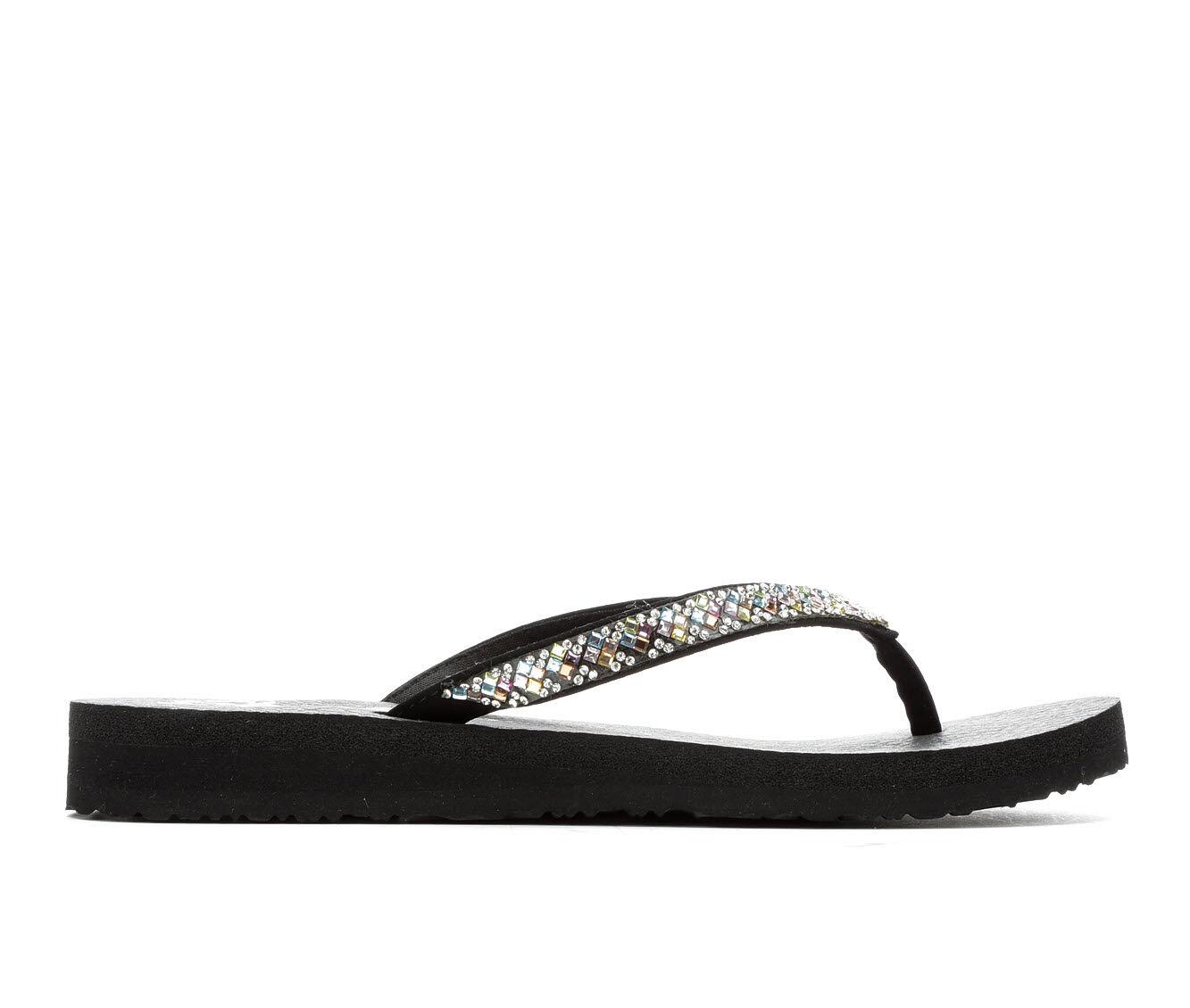 Women's Skechers Cali Perfect 10 31756 Sandals Black Multi