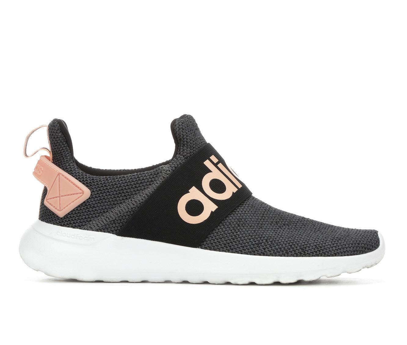 Women's Adidas Lite Racer Adapt Slip-On Sneakers Dark Grey/Pink