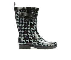 Women's Capelli New York Houndstooth Mid Rain Boots
