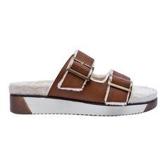 Women's Jane And The Shoe Jessica Fur Flatform Sandals