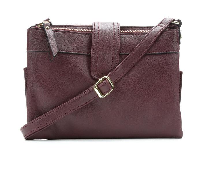 Bueno Of California Elk Multi Zip Crossbody Handbag