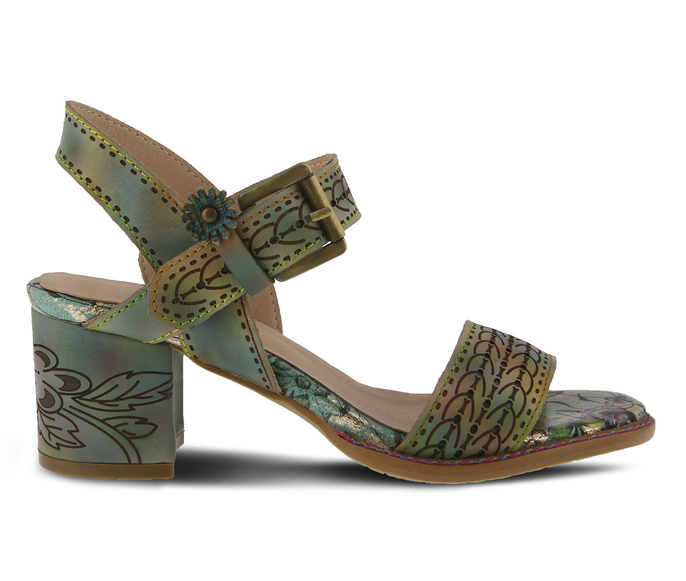 Women's L'ARTISTE Avonora Dress Sandals Green Multi