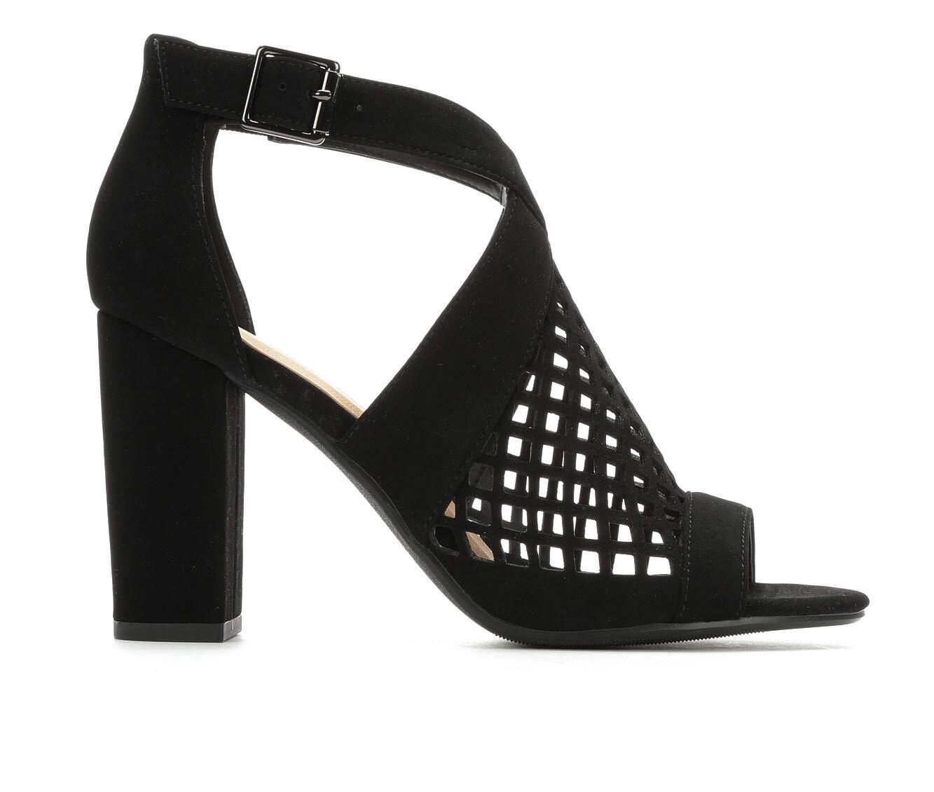 Women's Y-Not Beehive Heeled Sandals Black