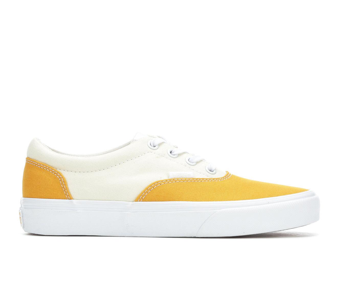 Women's Vans Doheny Two Tone Skate Shoes Mango/White