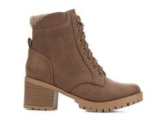 Women's Soda Single Lace-Up Heeled Booties