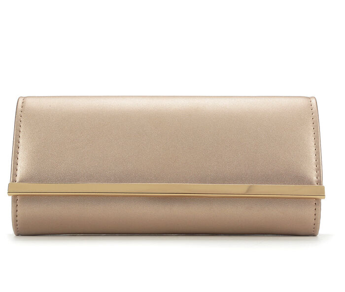 Four Seasons Handbags Faux Leather Evening Clutch