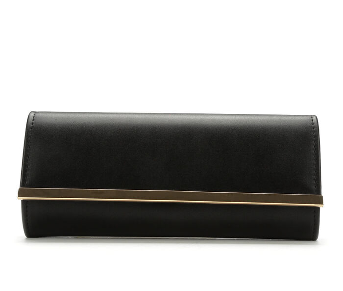 Four Seasons Handbags Faux Leather Evening Clutch