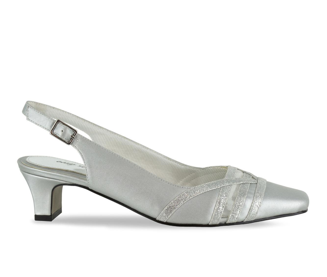 latest style Women's Easy Street Kristen Shoes Silver Satin