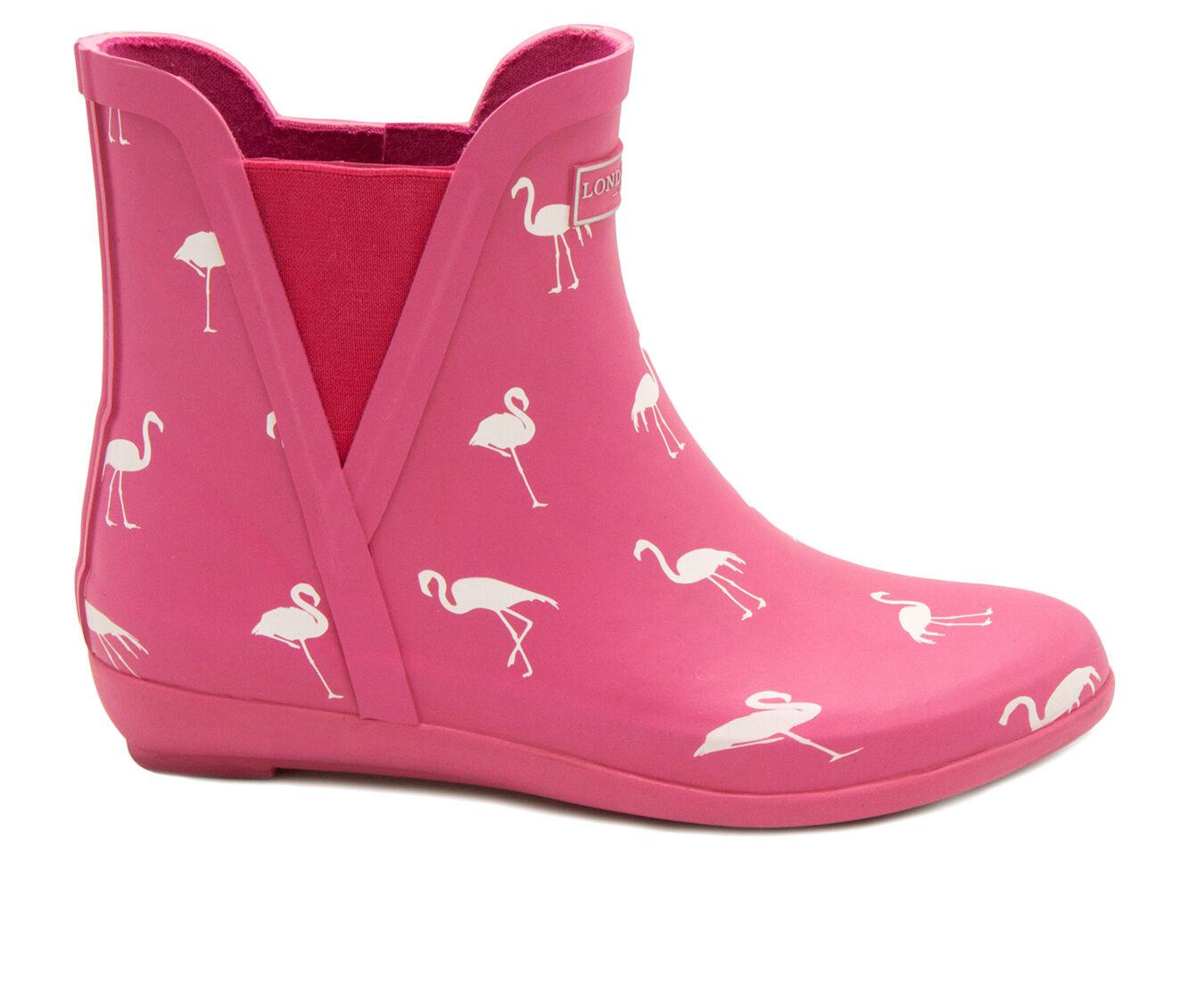 Women's London Fog Piccadilly Rain Boots Flamingo