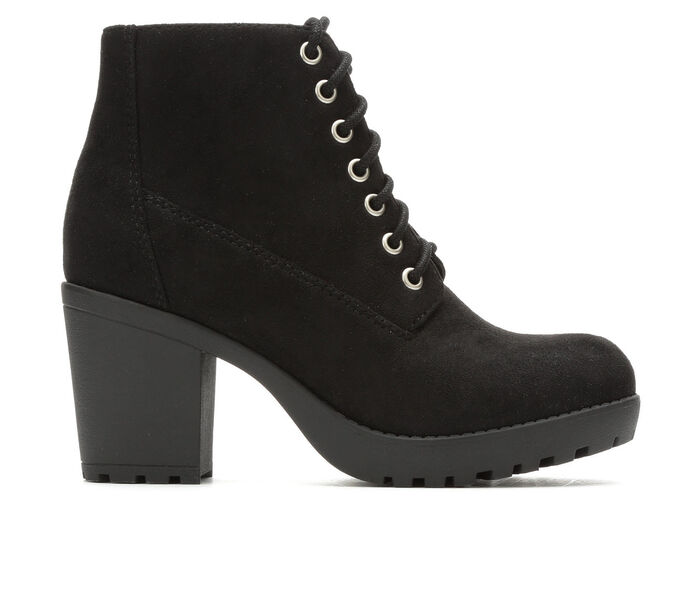 Women's Soda Second Lace-Up Lugged Booties