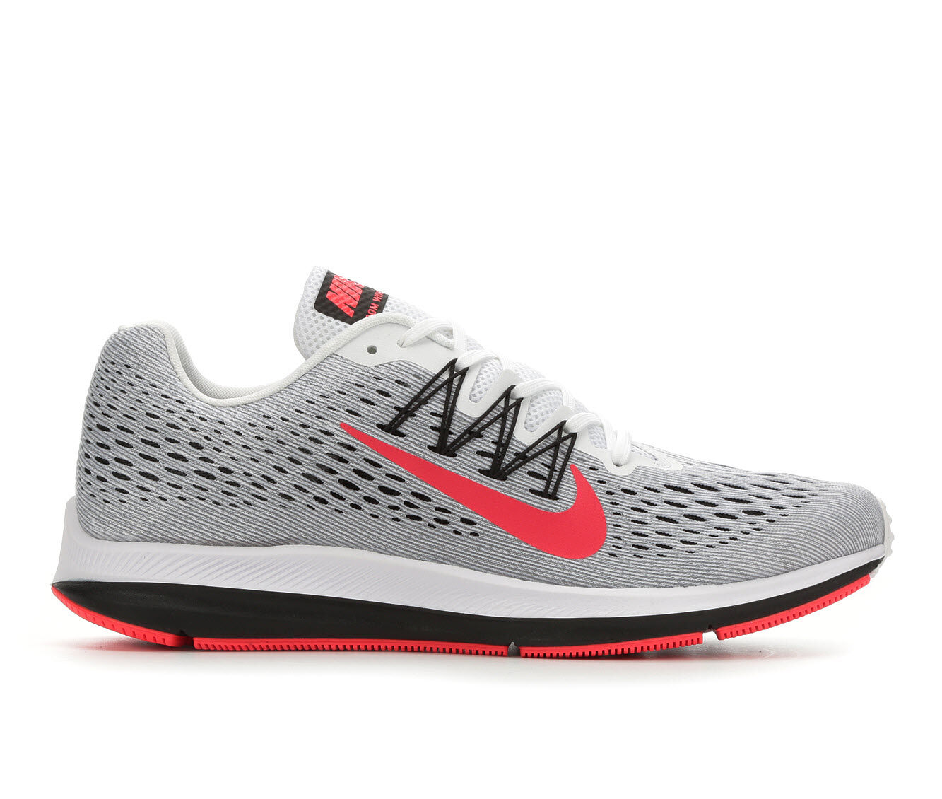 Men's Nike Zoom Winflo 5 Running Shoes Gy/Wh/Rd/Bk 101