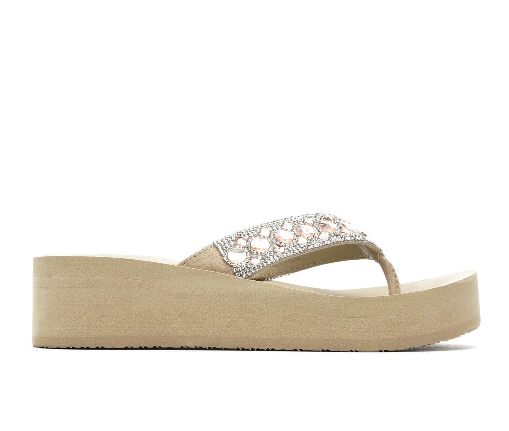 5f74987c22 Women's Yellow Box Rise Platform Sandals | Shoe Carnival