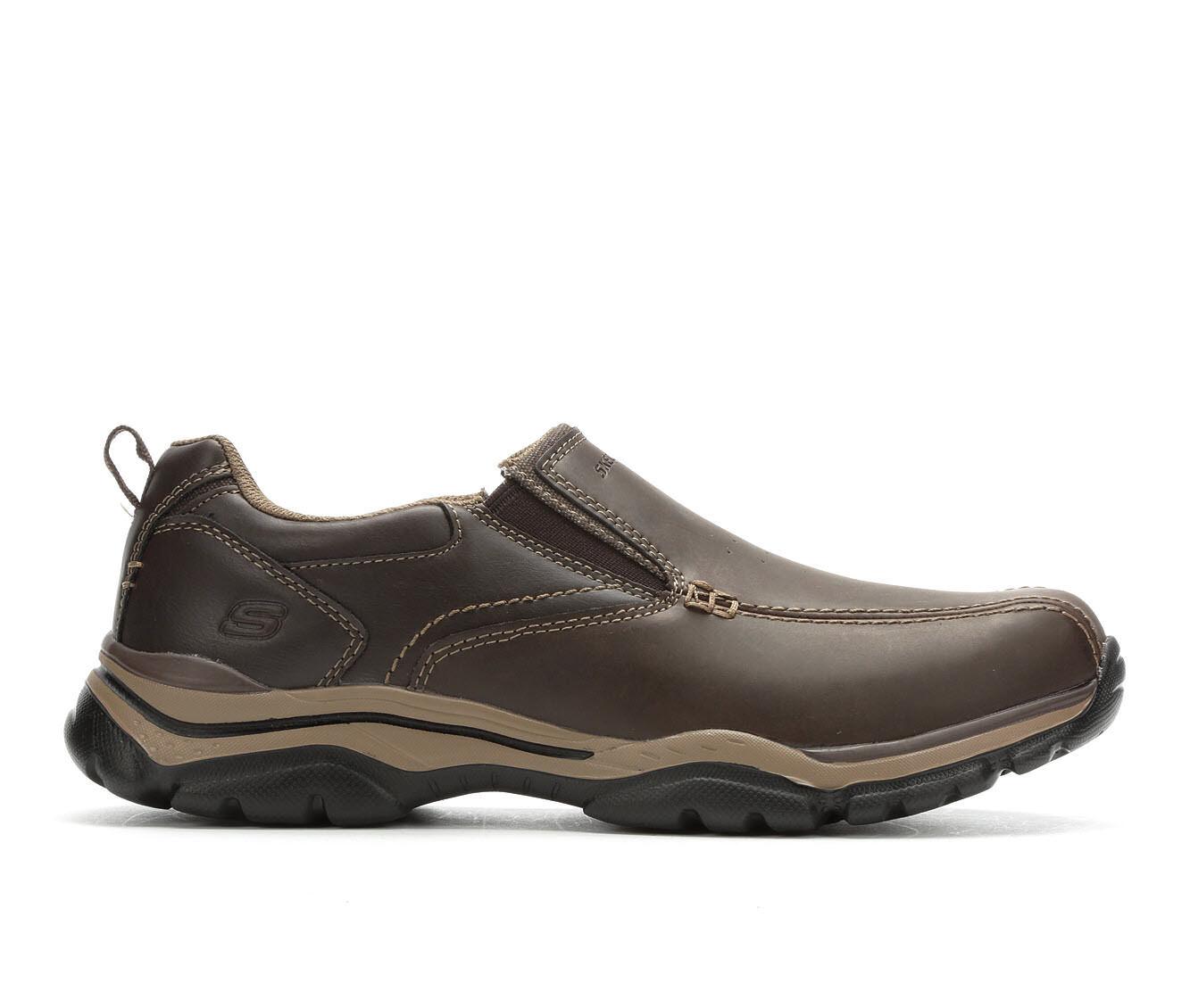 Men's Skechers Venten 65415 Casual Moc Loafers Dark Brown